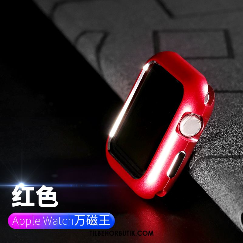 Apple Watch Series 2 Etui Anti-fald Cover Ramme Metal Rød Tilbud
