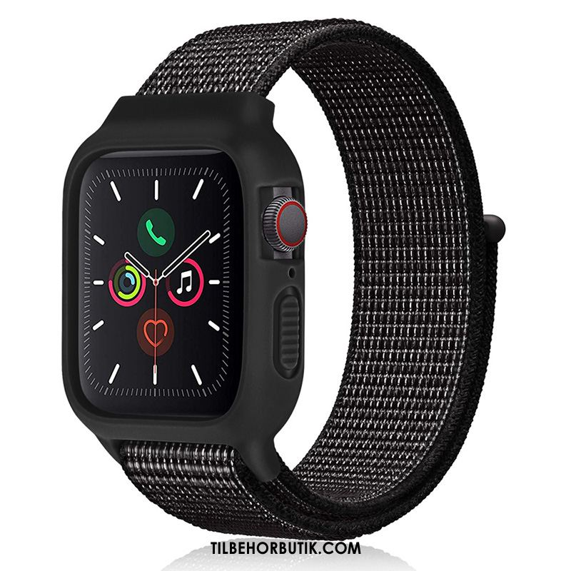Apple Watch Series 2 Etui Sport Nylon Silikone Trend Sort Tilbud