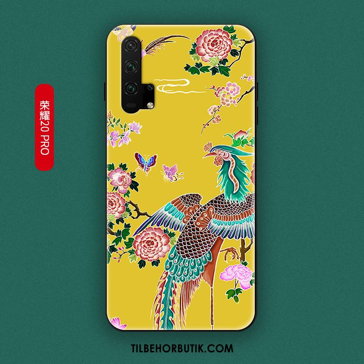 Honor 20 Pro Etui Gul Kreativ Trendy Anti-fald Blød Cover Billig