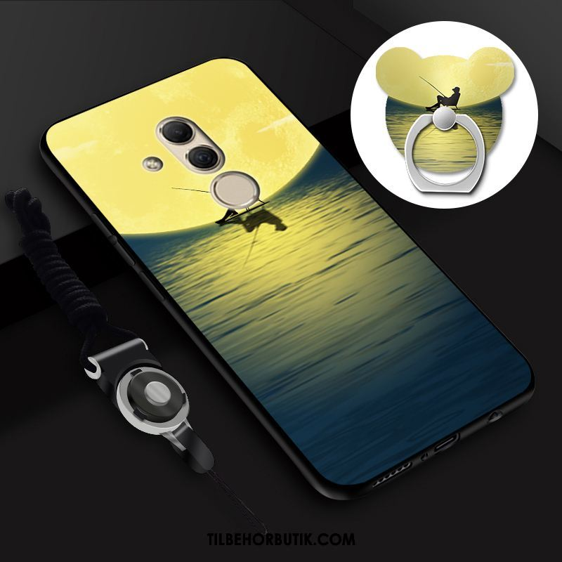 Huawei Mate 20 Lite Etui Gul Alt Inklusive Blød Cartoon Cover Billig