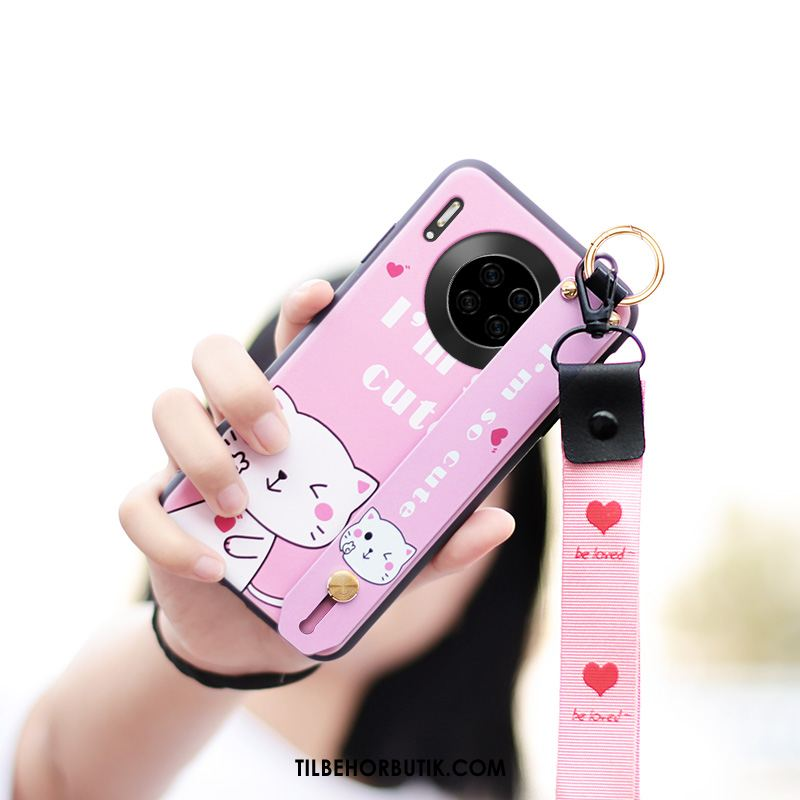 Huawei Mate 30 Pro Etui Smuk Cartoon Net Red Nubuck Silikone Tilbud