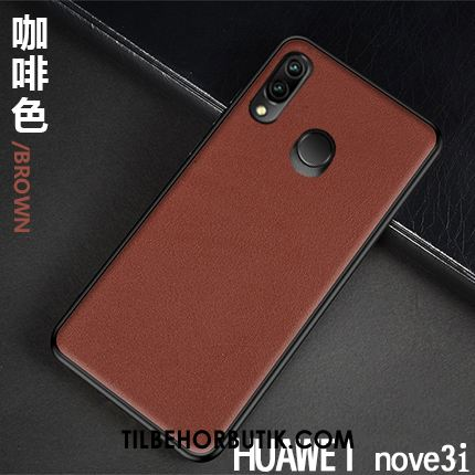 Huawei Nova 3i Etui Lædertaske High End Business Ny Ægte Læder Online