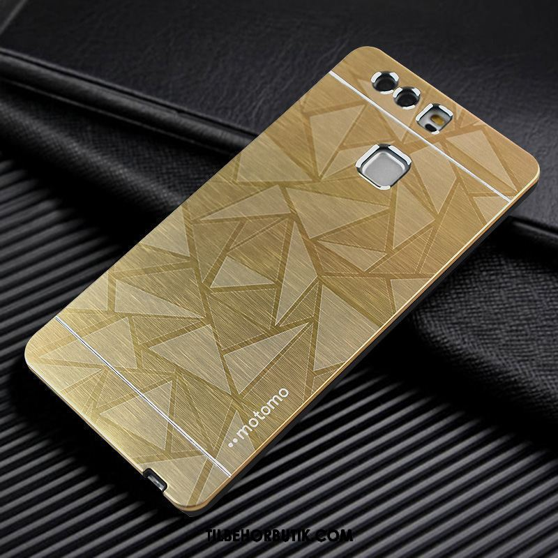 Huawei P9 Etui Metal Guld Anti-fald Beskyttelse Cover Online