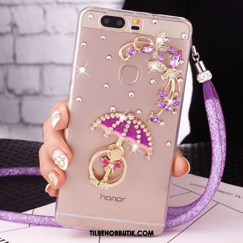 Huawei P9 Plus Etui Silikone Pulver Cover Strass Beskyttelse Billige