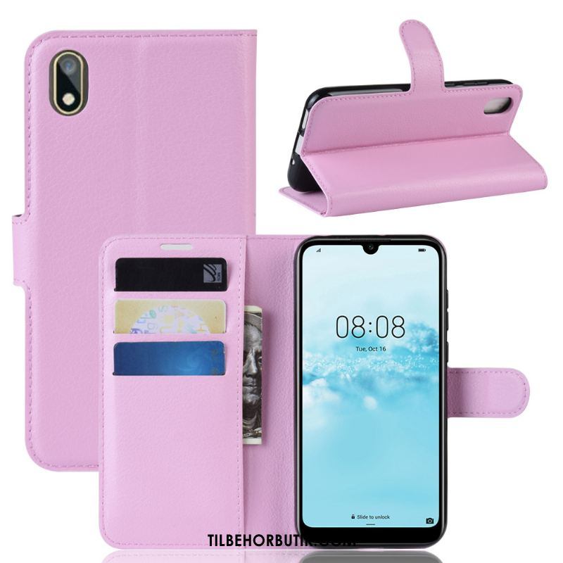 Huawei Y5 2019 Etui Support Beskyttelse Anti-fald Rød Cover Rabat
