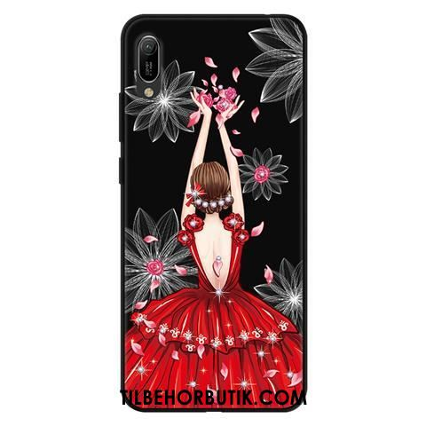 Huawei Y6 2019 Etui Cover Cartoon Beskyttelse Blød Blonder Butik