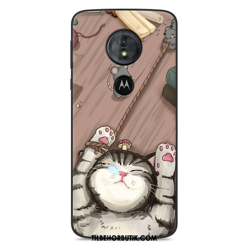 Moto G6 Play Etui Blød Silikone Cover Cartoon Anti-fald Billige
