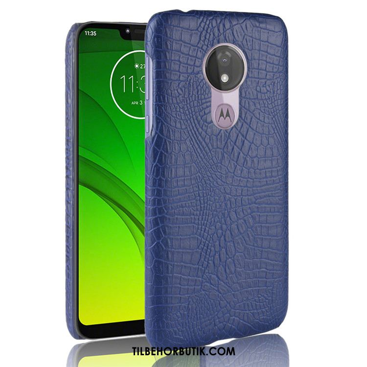 Moto G7 Power Etui Business Blå Cover Kreativ Tilbud