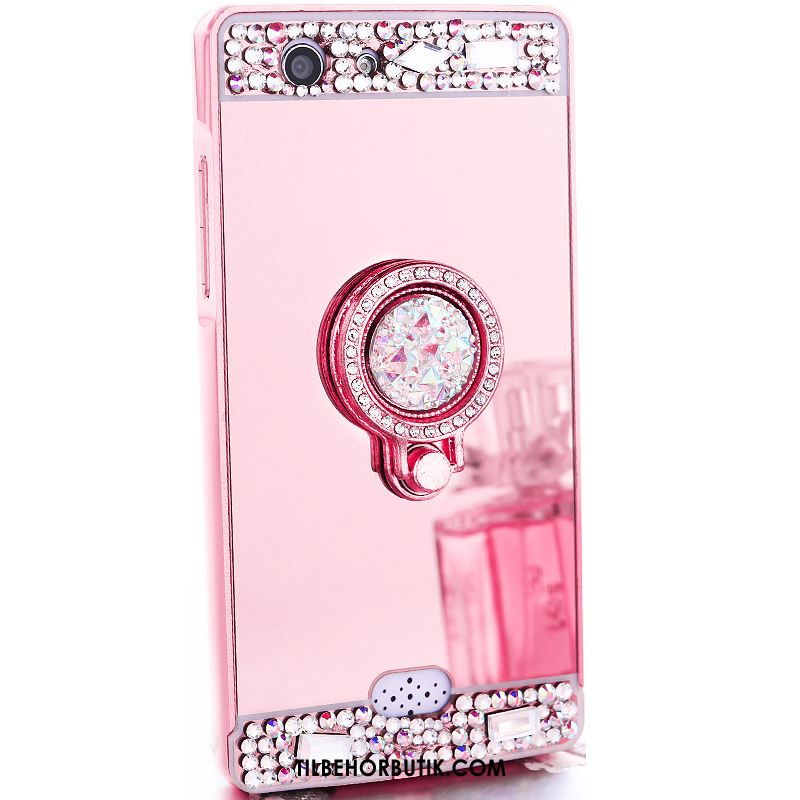 Oppo A31 Etui Strass Trend Hård Metal Cover Billige