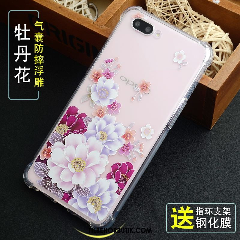 Oppo A3s Etui Blød Anti-fald Relief Tykke Cover Tilbud