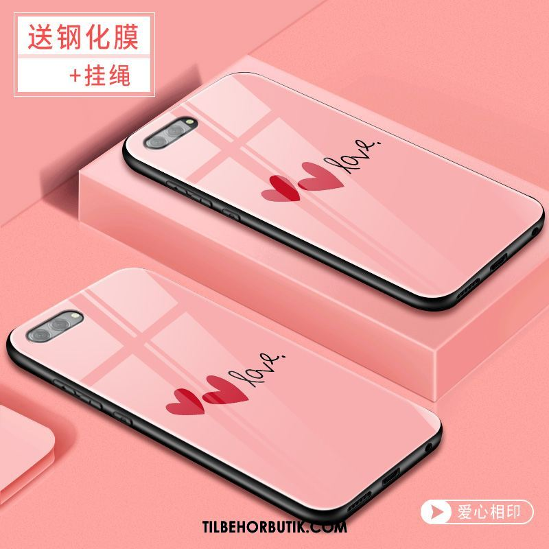 Oppo A3s Etui Net Red Glas Lyserød Alt Inklusive Cover Salg