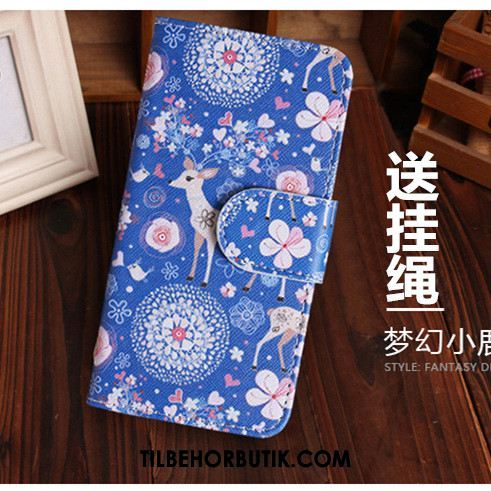 Oppo F5 Etui Simple Cartoon Clamshell Smuk Cover Billige