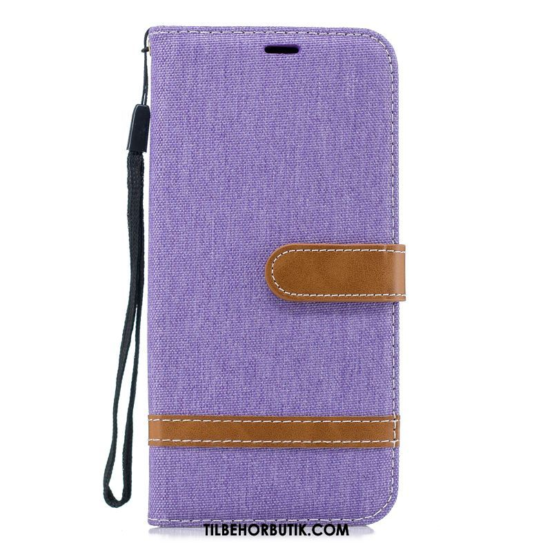Oppo F7 Youth Etui Folio Cover Simple Denim Business Tilbud