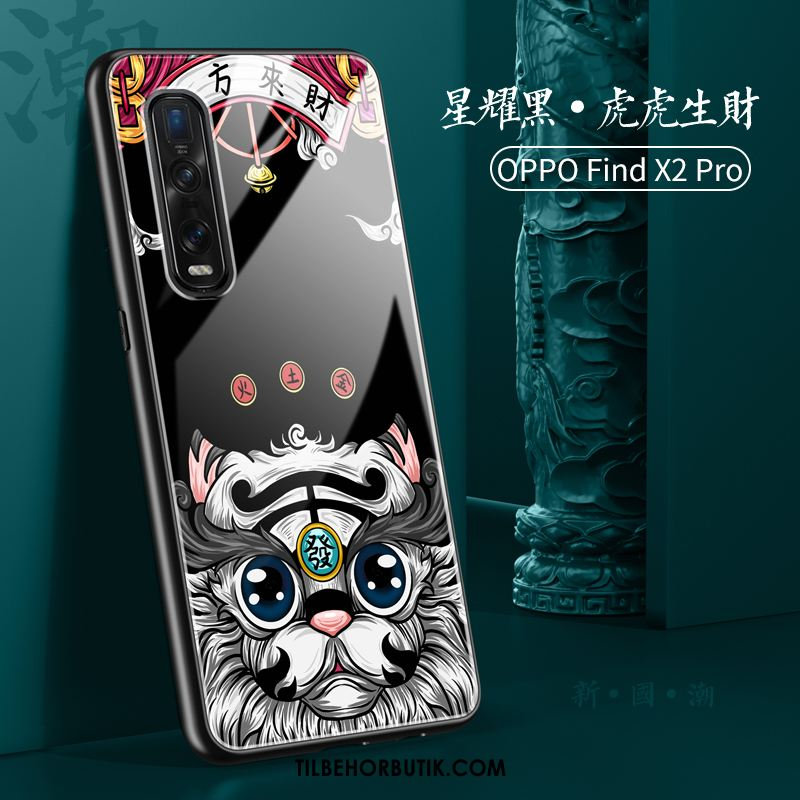 Oppo Find X2 Pro Etui Silikone Anti-fald Trend Blød Cover Tilbud