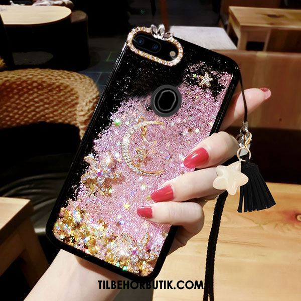 Oppo R11s Etui Trend Strass Anti-fald Quicksand Af Personlighed Cover Tilbud