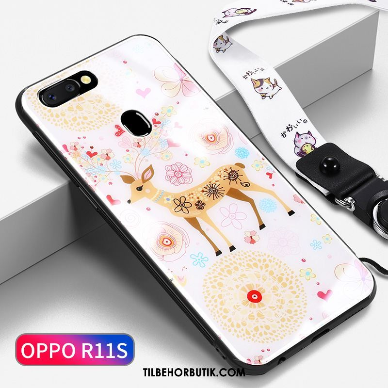 Oppo R11s Etui Tynd Net Red Af Personlighed Gul Cover Online