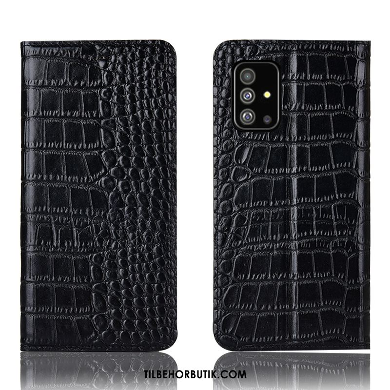 Samsung Galaxy A51 Etui Sort Folio Alt Inklusive Lædertaske Cover Billige
