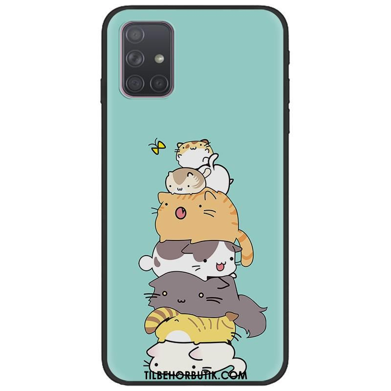 Samsung Galaxy A71 Etui Pu Malet Sort Kreativ Cartoon Køb