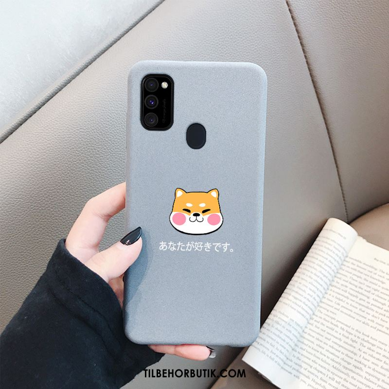 Samsung Galaxy M30s Etui Cartoon Hærdning Smuk Cover Silikone Billig