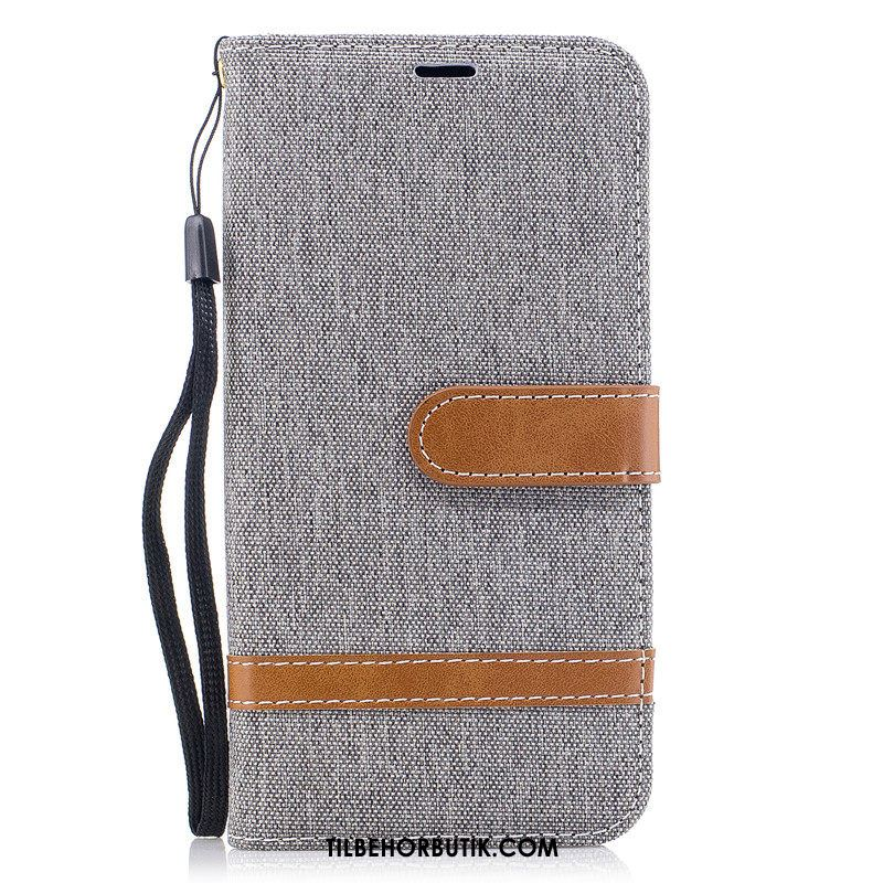 Samsung Galaxy Note 10 Etui Cover Grå Kort Folio Denim Tilbud