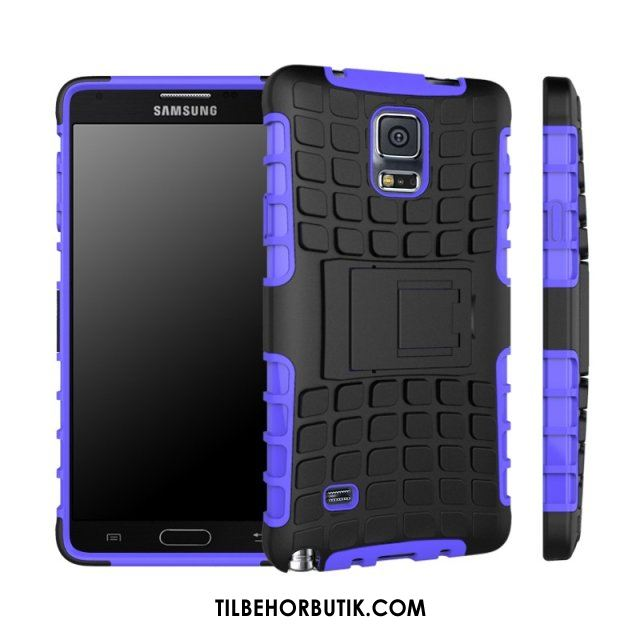 Samsung Galaxy Note 4 Etui Support Cover Lilla Beskyttelse Alt Inklusive Udsalg