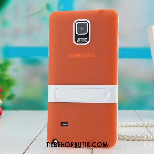 Samsung Galaxy Note 4 Etui Support Silikone Orange Beskyttelse Cover Køb