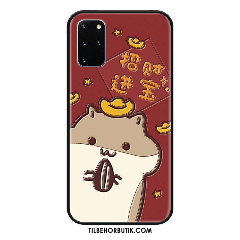 Samsung Galaxy S20+ Etui Cartoon Hængende Ornamenter Silikone Cover Nubuck Rabat