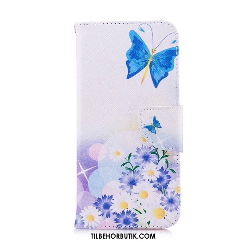 Samsung Galaxy S20 Etui Cover Hvid Support Malet Folio Billige