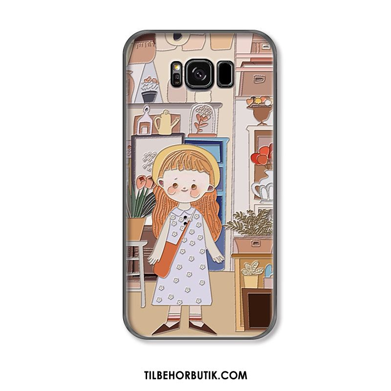 Samsung Galaxy S8+ Etui Alt Inklusive Mode Blomster Trend Relief Rabat