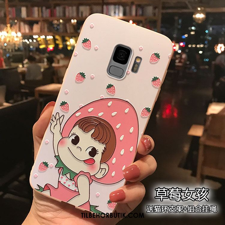 Samsung Galaxy S9 Etui Cartoon Support Silikone Smuk Cover Udsalg