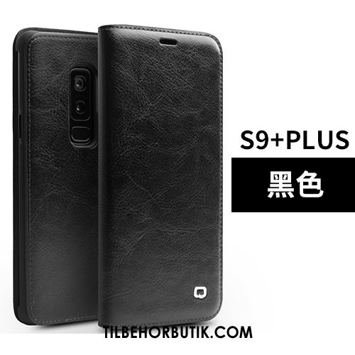 Samsung Galaxy S9+ Etui Lædertaske High End Tynd Tasker Trendy Cover Online