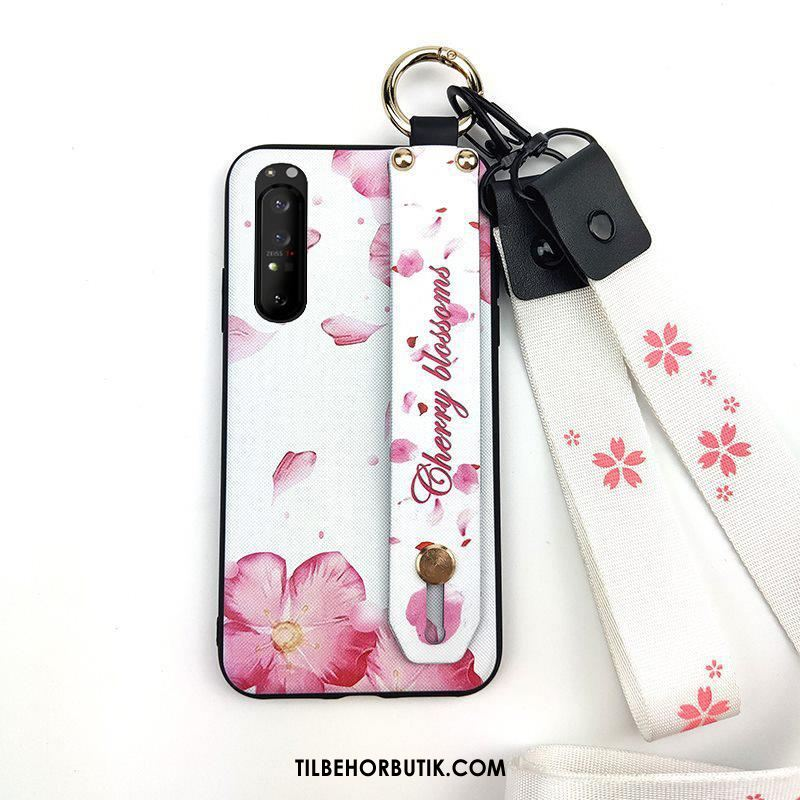 Sony Xperia 1 Ii Etui Cherry Frisk Cover Lyserød Hængende Ornamenter Salg