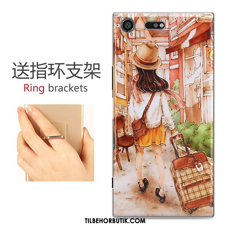 Sony Xperia Xz Premium Etui Beskyttelse Relief Af Personlighed Cover Cartoon Billige