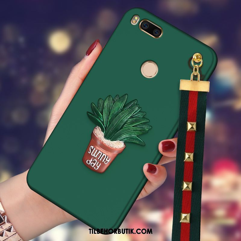 Xiaomi Mi A1 Etui Grøn Silikone Cover Trend Cartoon Billige