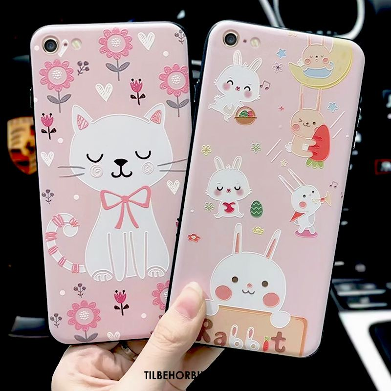 iPhone 6 / 6s Etui Kanin Blomster Cartoon Kat Cover Online