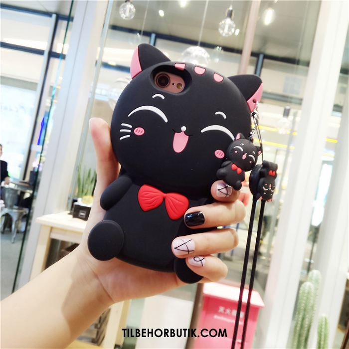 iPhone 6 / 6s Etui Kreativ Silikone Cartoon Trendy Sort Tilbud