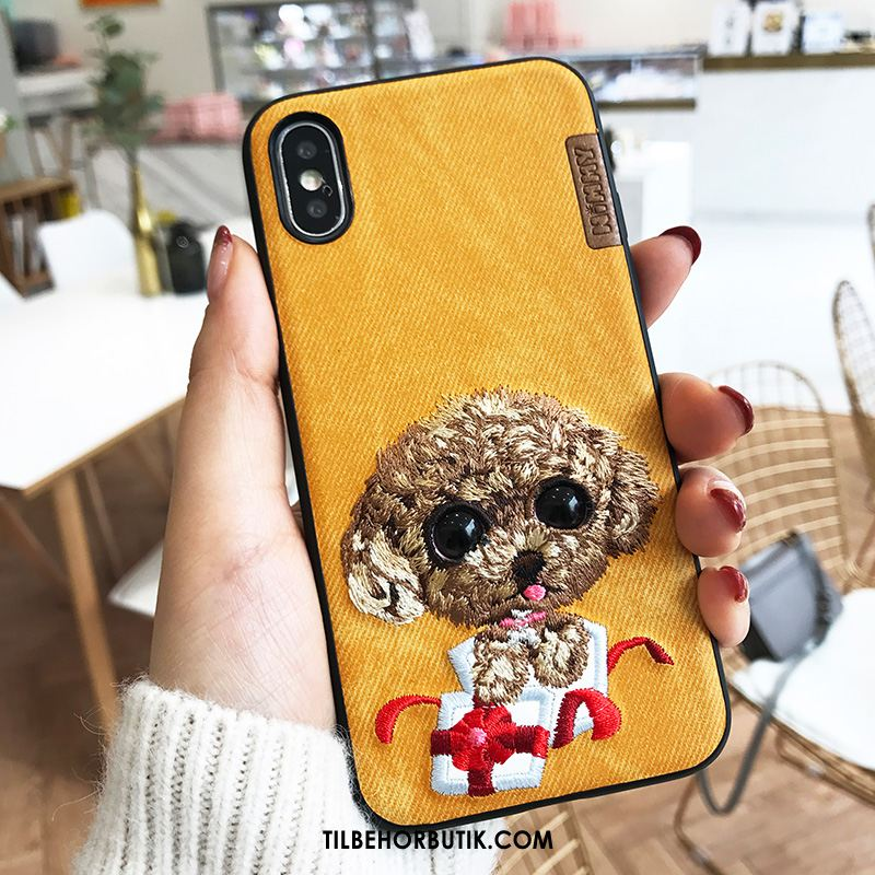 iPhone Xs Max Etui Anti-fald Cartoon Beskyttelse Gul Trend Cover Tilbud